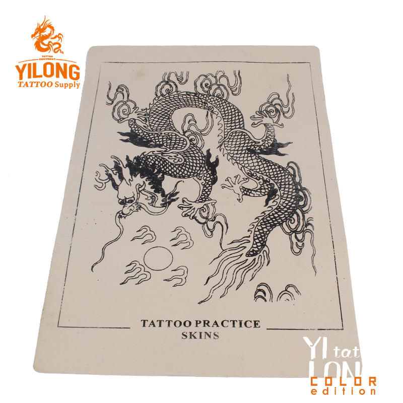 Yilong High Quality Permanent Make Up Tattoo Practice skin,dragon-100g (20cm*30)