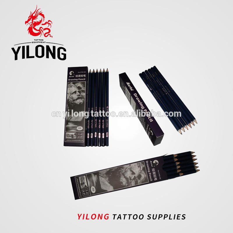 Yilong Art Tattoo Drawing pencil 12pcs 1900109