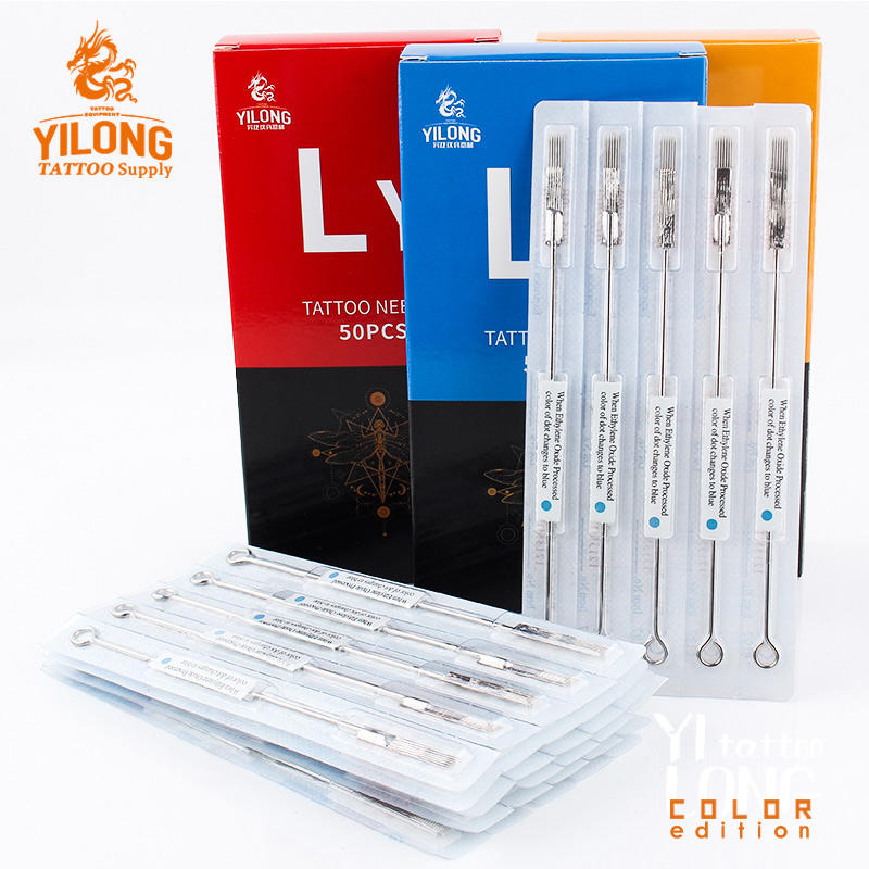 Yilong Professional Top Quality Disposable Tattoo Needles With Blue Dot For Body Art