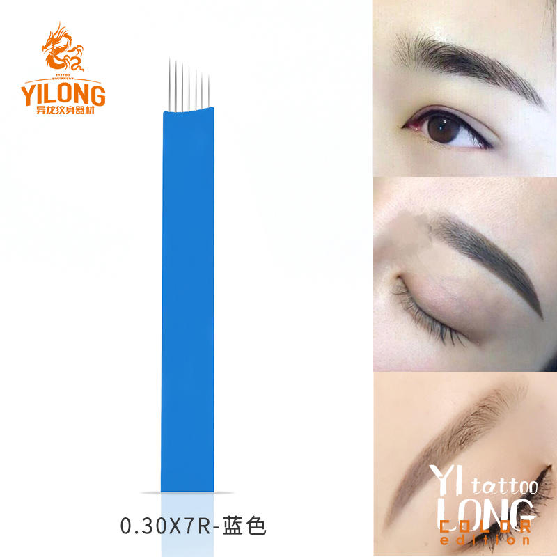 yilong tattoo needle supply fifty great quality blue and red Smooth and fine