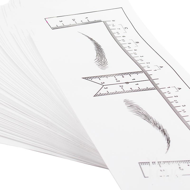 Yilong One-line eyebrow card tattoo plastic makeup 50pcs/bag