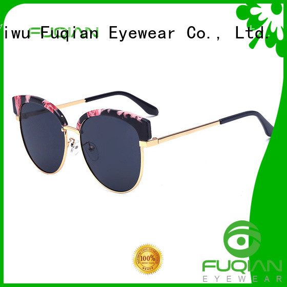 Fuqian women's metal sunglasses customized for lady