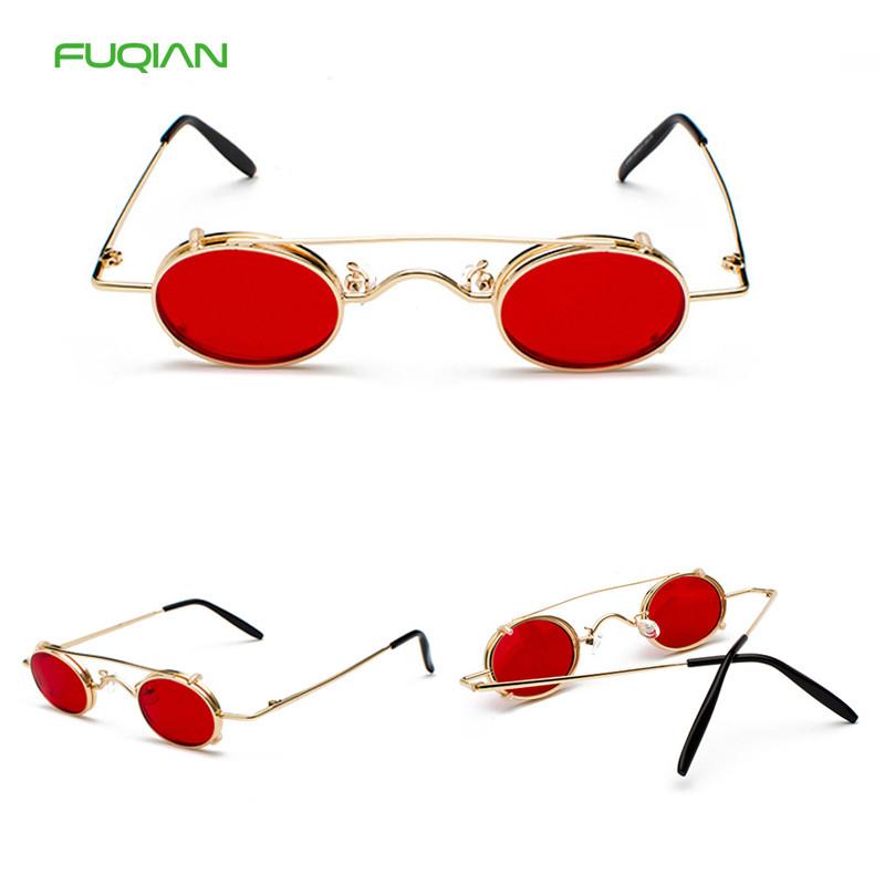 Double Bridge Oculos De Sol Women Men Red Blue Cat3 UV400 Filp Round SunglassesDouble Bridge Oculos De Sol Women Men Red Blue Cat3 UV400 Filp Round Sunglasses