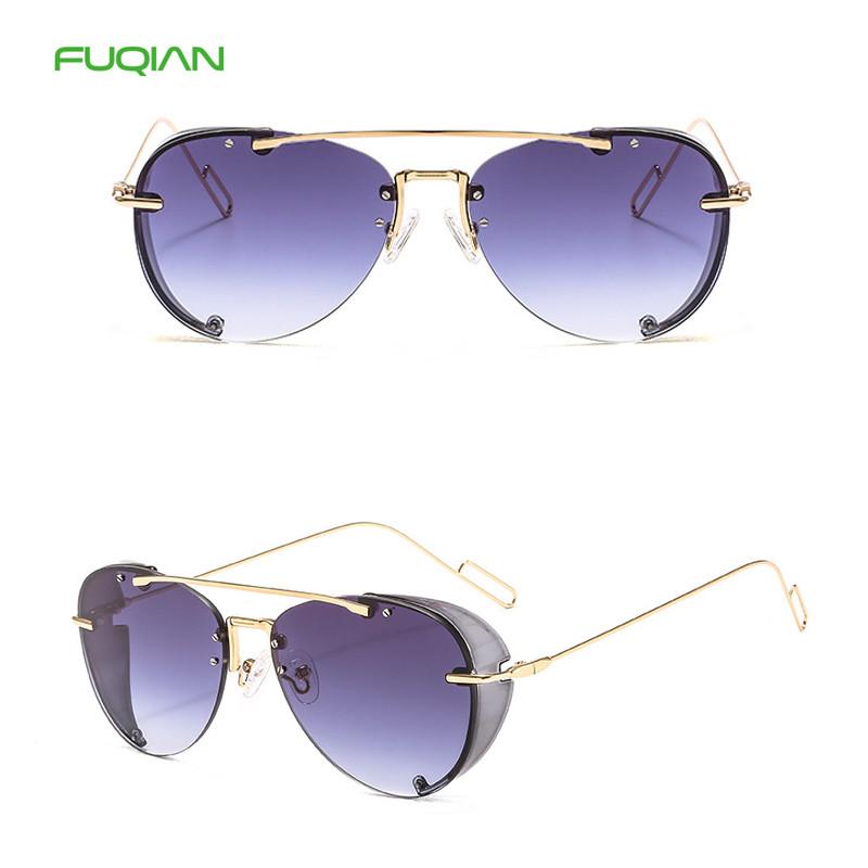 2020 Vintage Transparent Steampunk Rainbow Designer Women Men Pilot Sunglasses