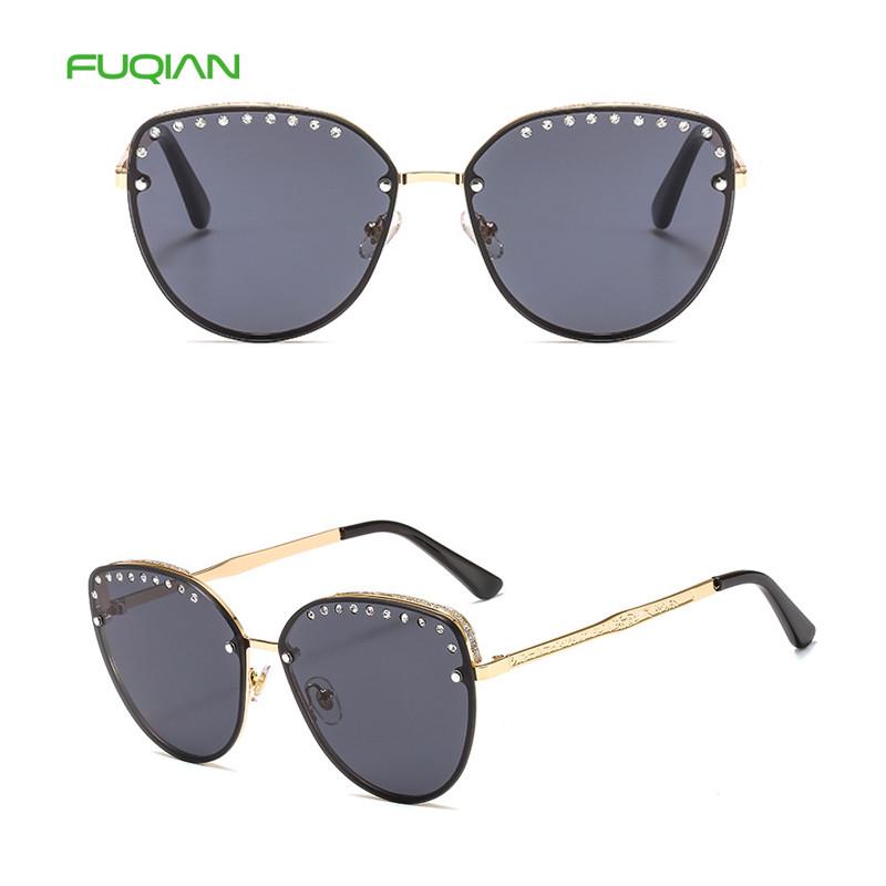 Designer Bamboo Wood Temple Double Coil Hollow Frame Women Men Cat Eye Sunglasses