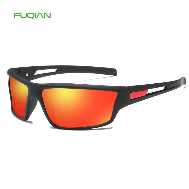 Wholesale Plastic Square TAC Polarized Custom Logo Men Sports Dust Driving Sunglasses