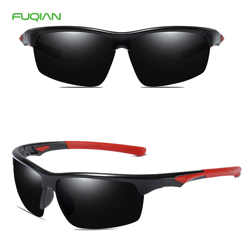 Classic men women half frame cycling driving polarized sports sunglasses