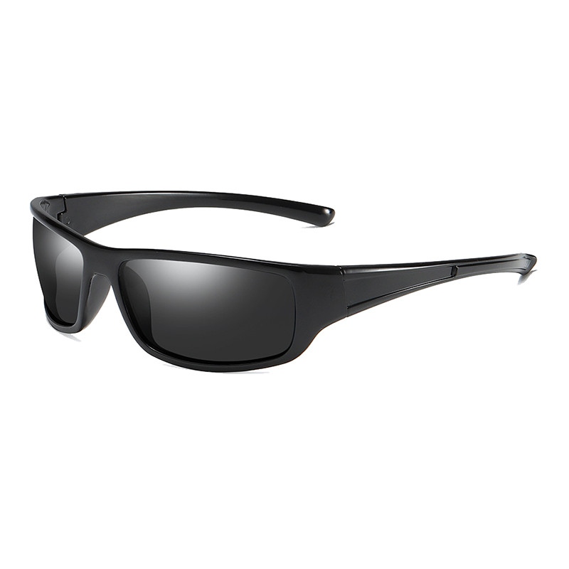 Wholesale Plastic Square TAC Polarized Custom Logo Men Sports Eyewear