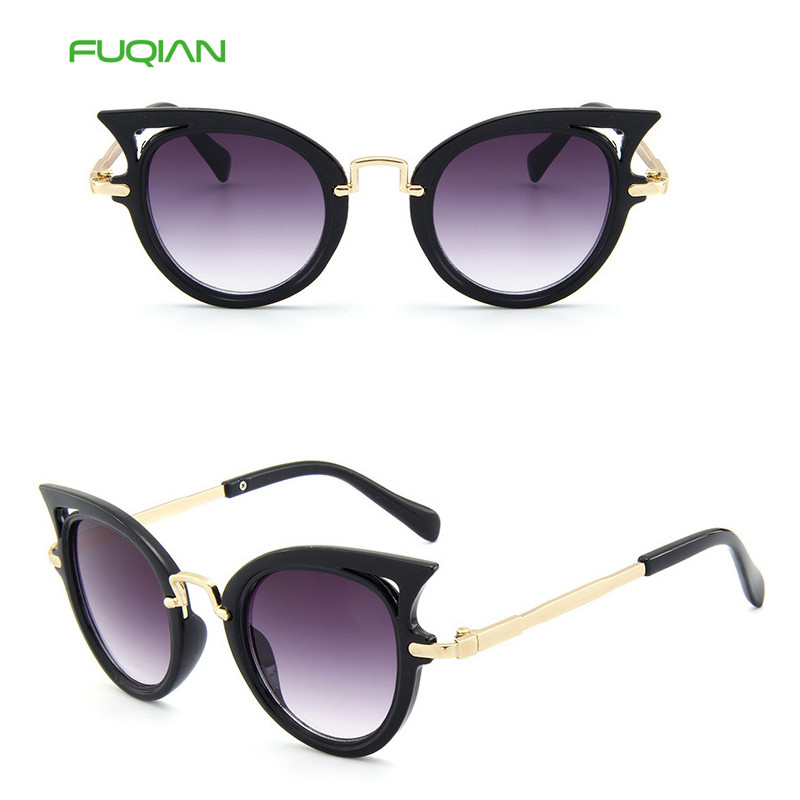 High Quality Unique Owl Eyewear Hollow UV400 Children Cat Eye Sunglasses