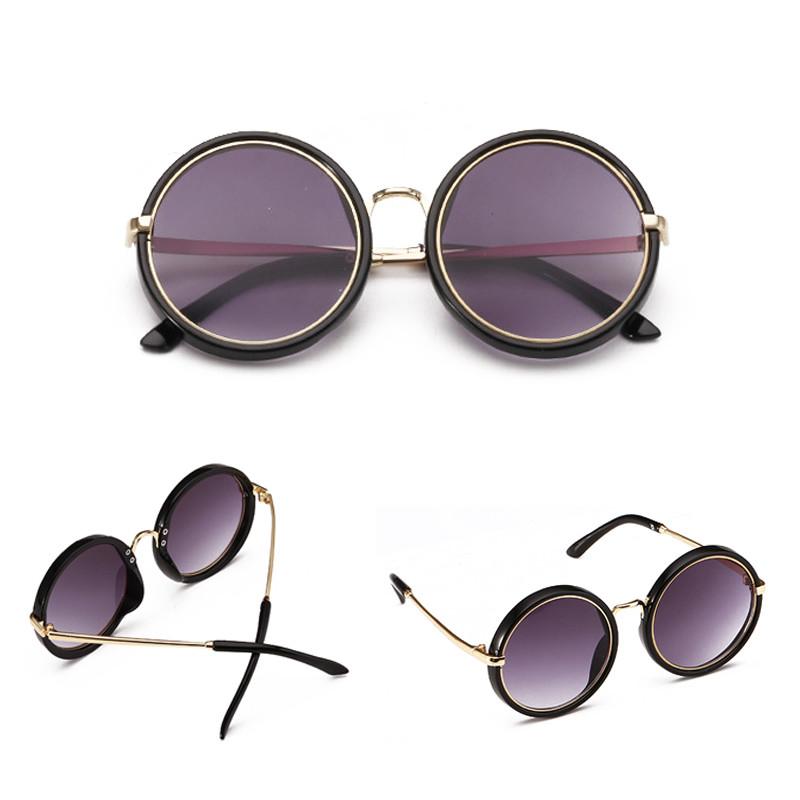 New Arrivals Cool Metal Frame Colors UV400 Lens Kids Round Sunglasses