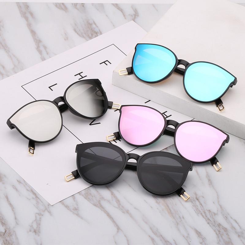Eye Sunglasses Fashion Portable Mirror Color Film Kids Cat Eye Sunglasses