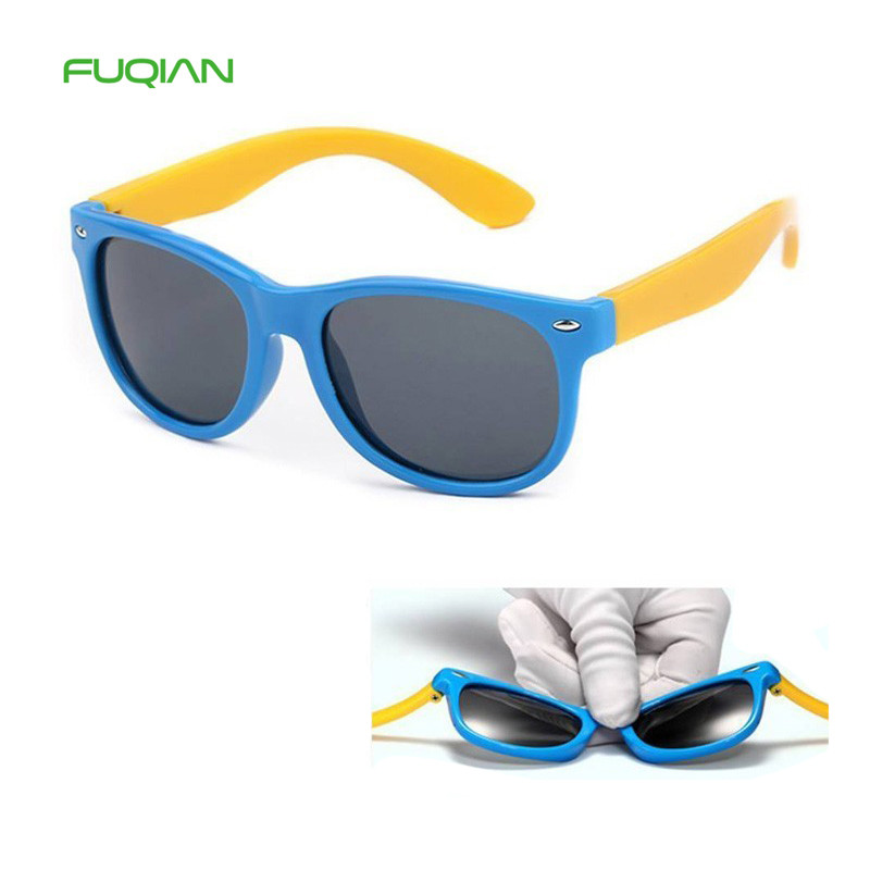 Children Sunglasses Polarized Sunglasses TR90 Silicone Safety Glasses Baby Eyewear UV400