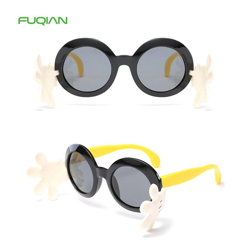 Fashion Newest Sunglasses Cartoon Flip Silica Gel Polarized Kids Sunglasses