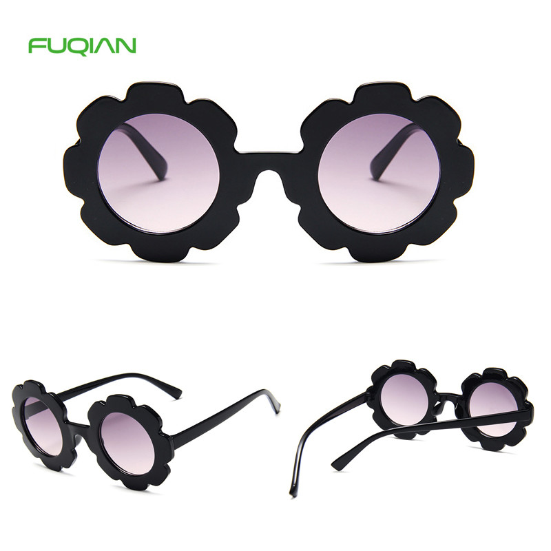 Baby Healthy Material Flower Cat3 UV400 Plastic Kids Sunglasses
