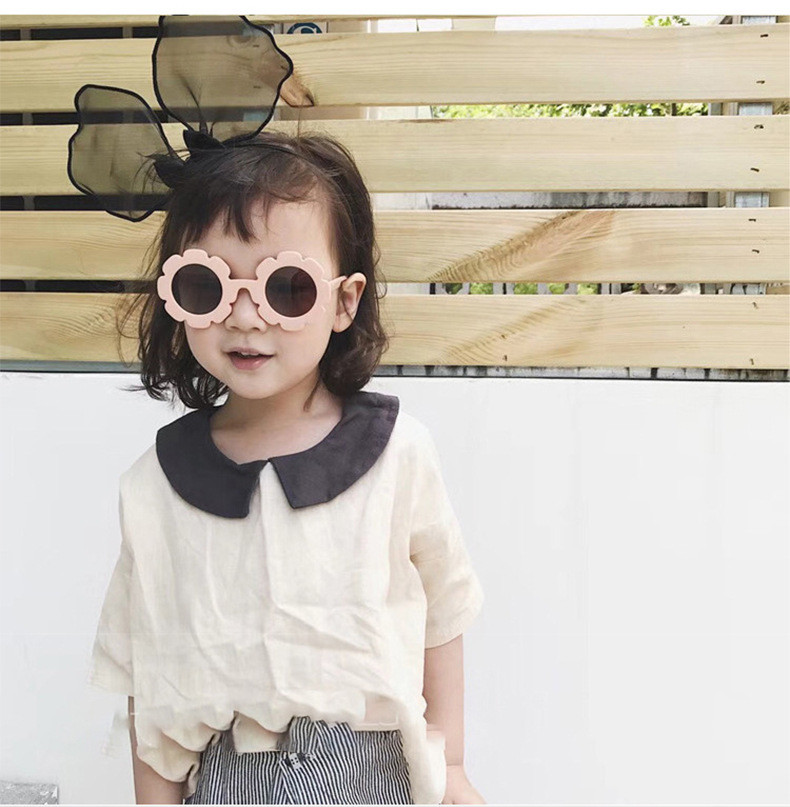 Fashion Baby Sunglasses Healthy Material UV400 Plastic Kids Sunglasses