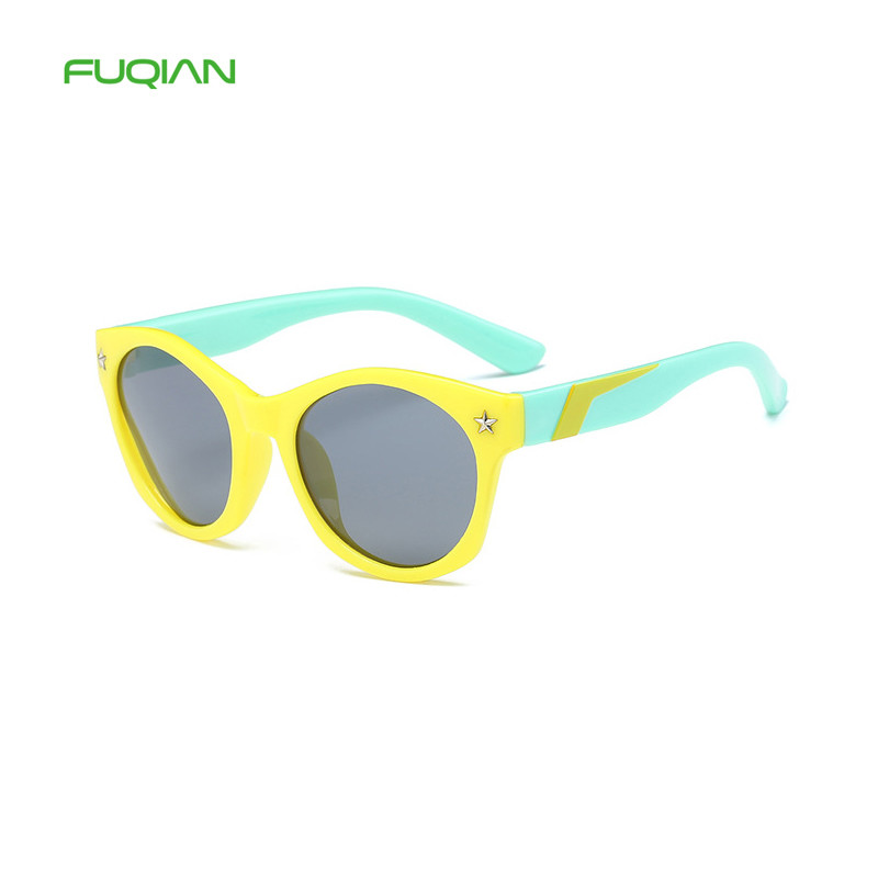 Children Sunglasses Eyes Friendly Fresh Material Colorful Star TAC Polarized Sunglasses