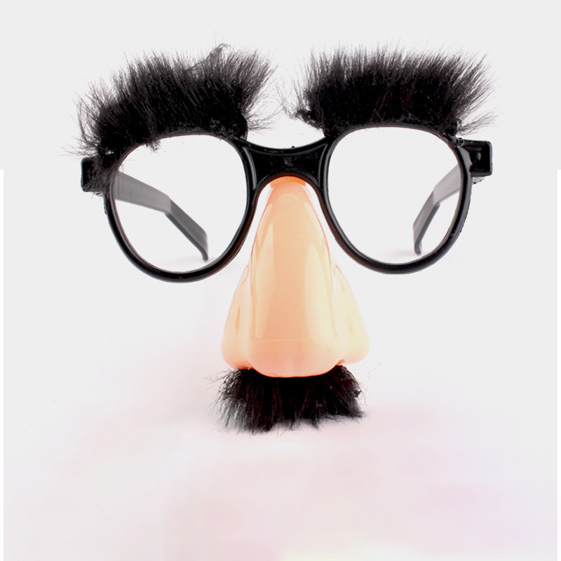 Halloween Decoration Funny Glasses Nose Berad Eyebrow Whole Fool Party Props