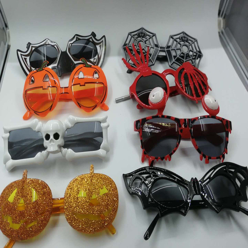 Halloween Party Decorations Glasses Cobweb  Skull Funny Party Eye Glasses