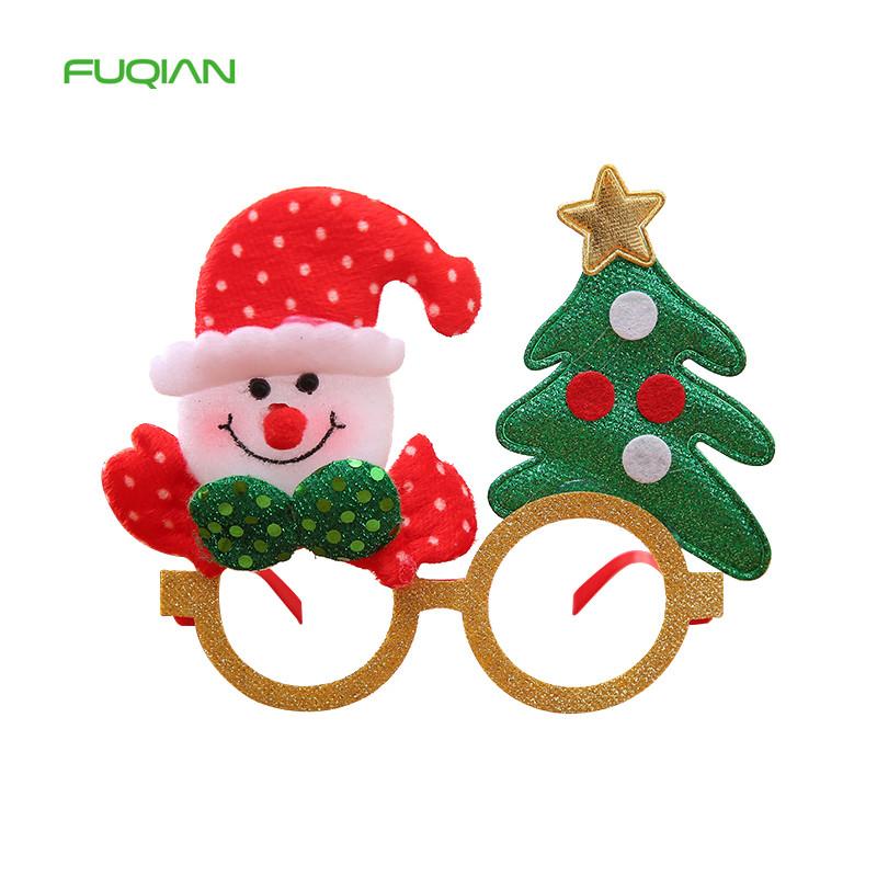 Custom Cloth Glasses Frames For Christmas Party Decoration