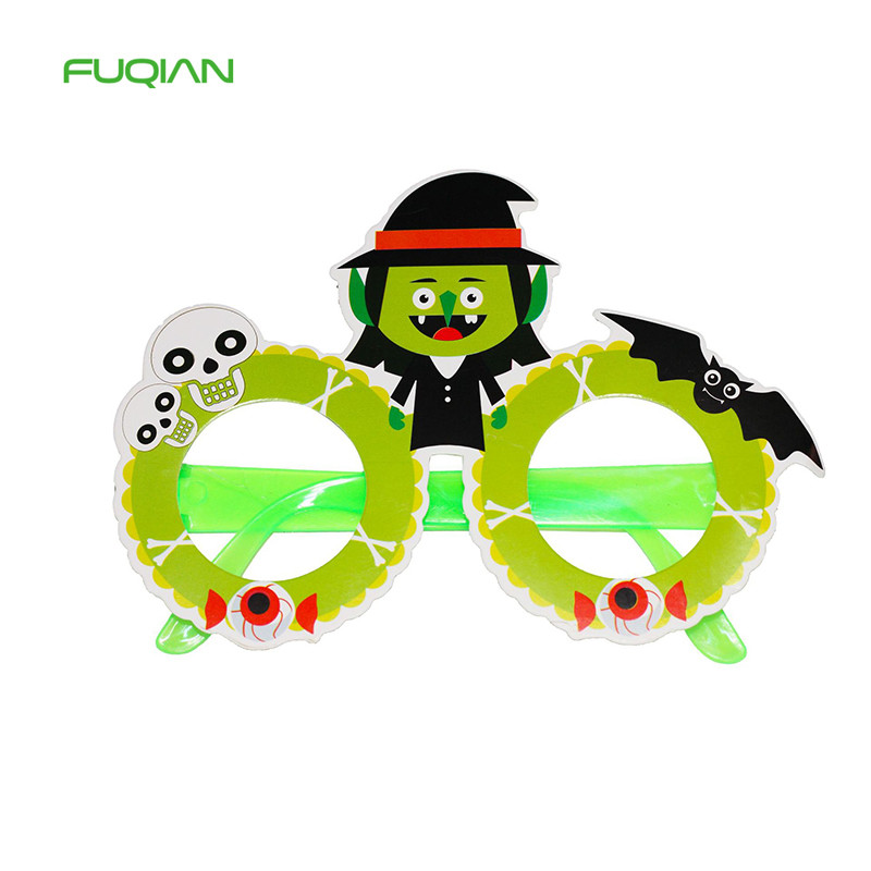 Hot Sale Paper Halloween Party Decorations Pumpkin Ghost Kids Glasses Frames