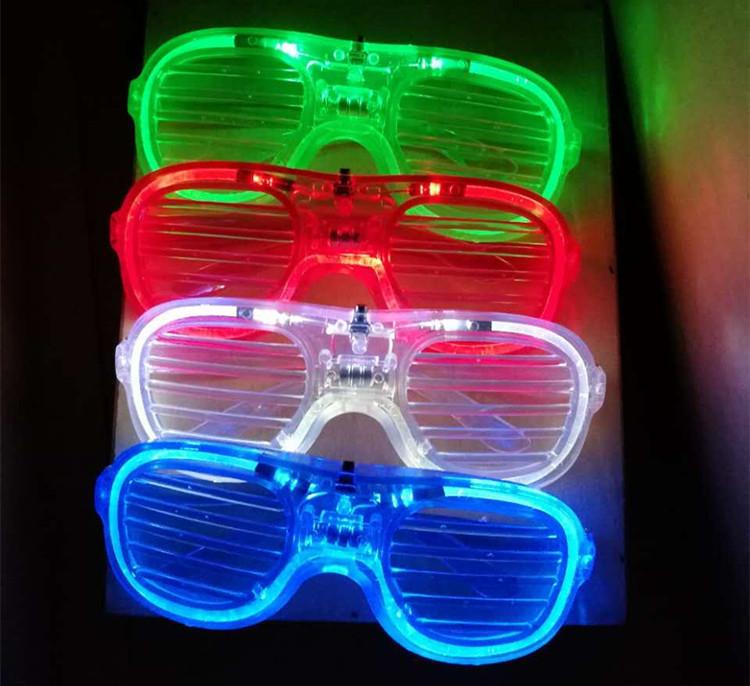 Festive Sunglasses Concert Karaoke Party Plastic LED Light Glowing Glasses