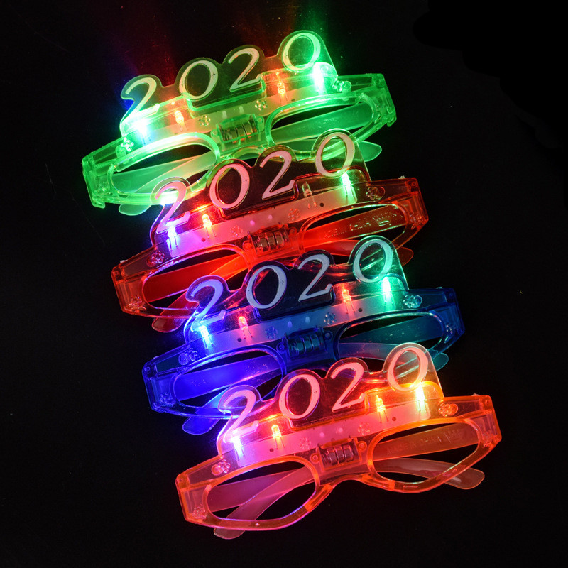 2020 Festive Sunglasses Annual Meeting Props  LED Glasses Festival Night Eyewear
