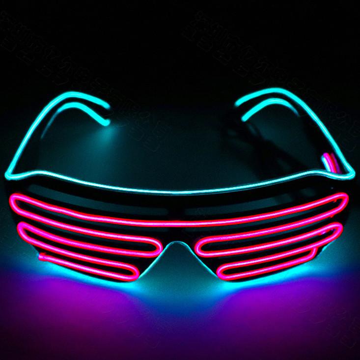 2019 Neon Party EL Wire LED Glasses Light Up Rave Costume Festival DJ Eyeglasses Frames