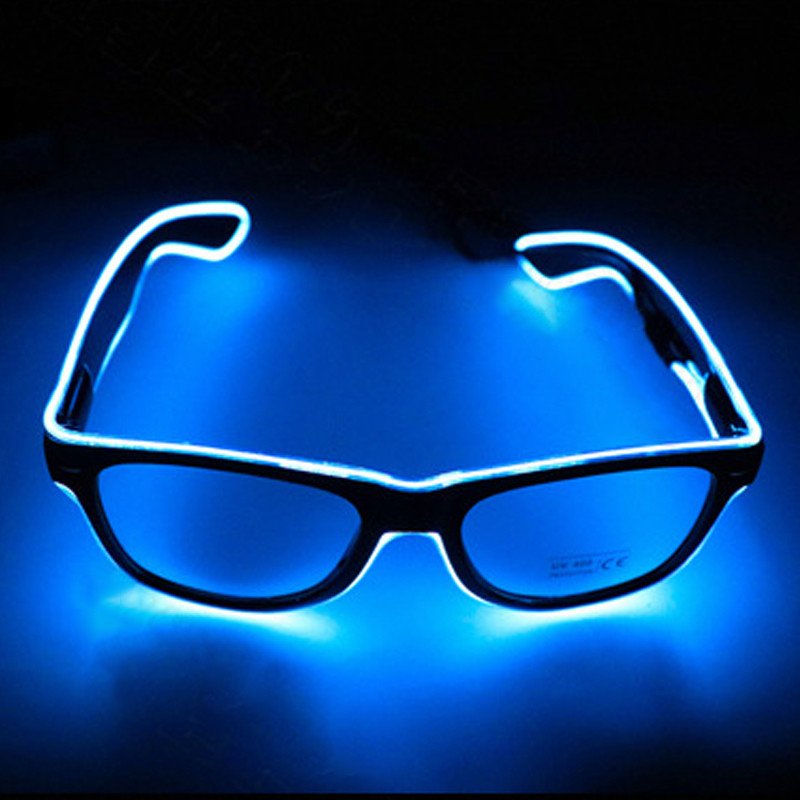 Flashing EL Wire LED Glasses Part Light Festival Eyeglasses