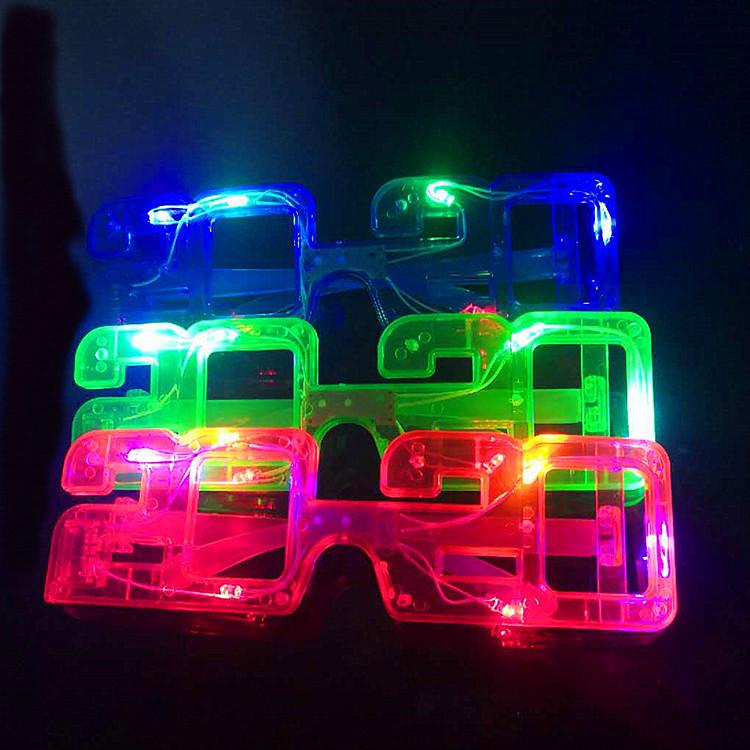 Luminous Christmas Halloween New Year Party Decoration 2020 LED Glasses Frame