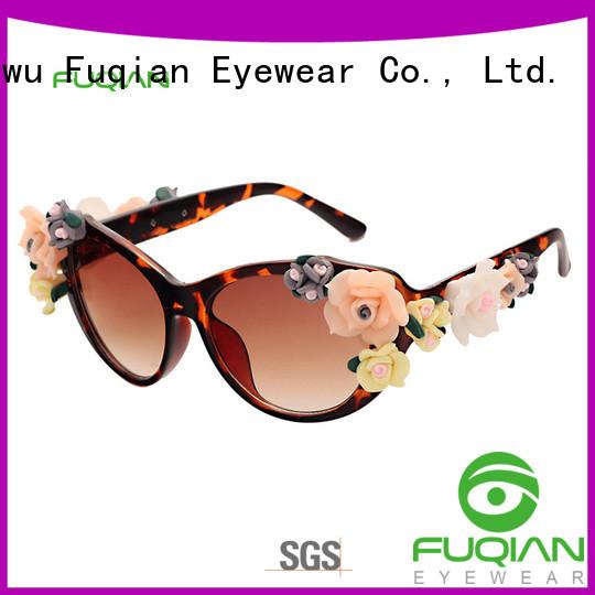 Fuqian round sunglasses women factory for sport