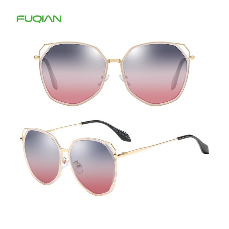 2019 Fashion curved round polarized sunglasses polygon frame women colorful fuqian eyewear2019 Fashion curved round polarized sunglasses polygon frame women colorful fuqian eyewear