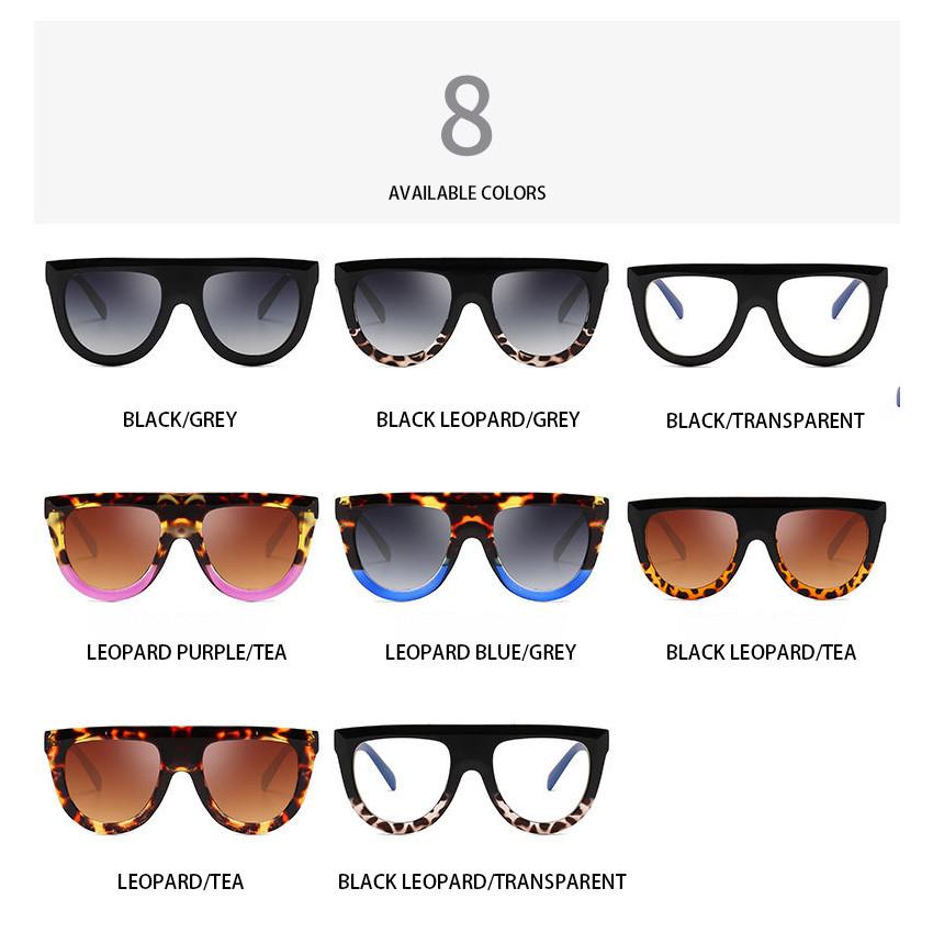 Trendy Flat Top Big Round Frame Mirror Custom Logo Ladies Sunglasses