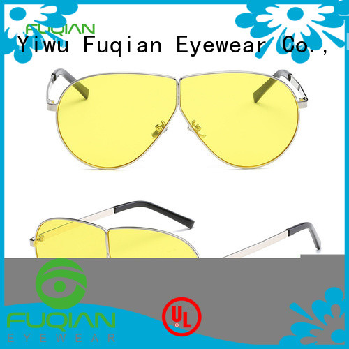 Fuqian women's aviator sunglasses company for lady