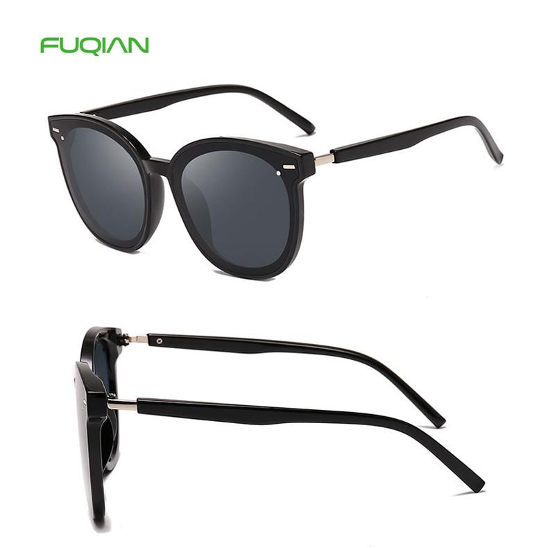 Fashion Round Metal Frame PC UV400 Custom Logo Women Shades Sunglasses