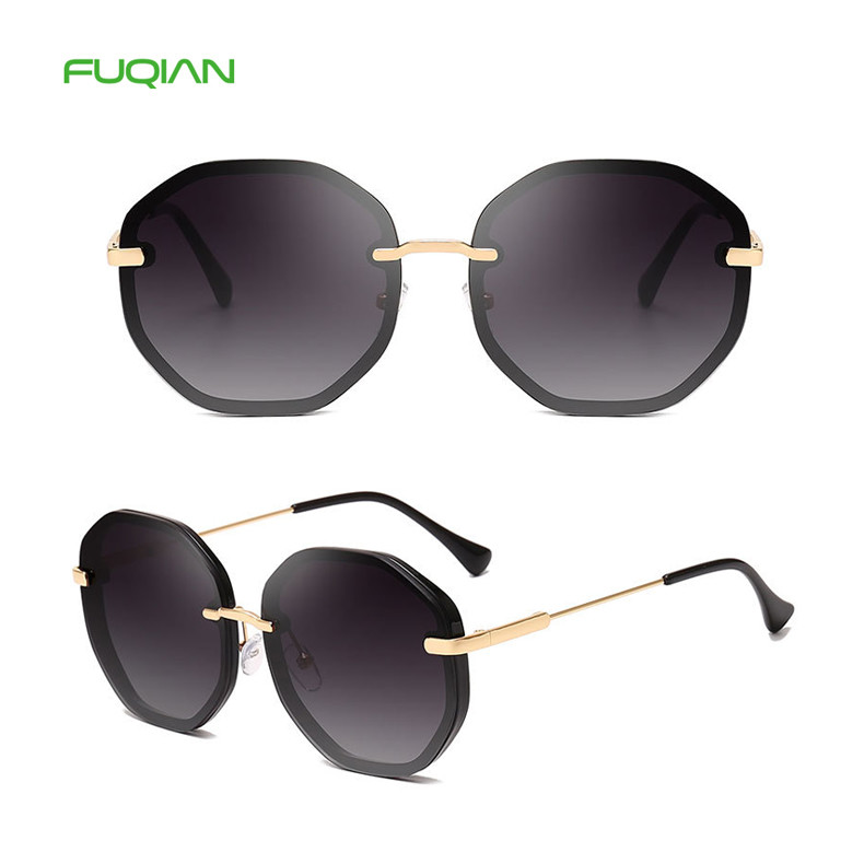 Wholesale Size Polygonal Mirror Handmade Shades Women UV400 Sunglasses