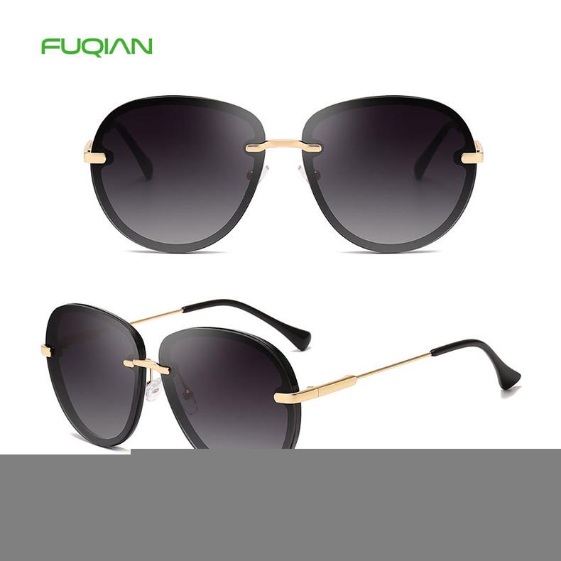 2019 High Quality Gradient Round Frame UV400 Women Female Sunglasses