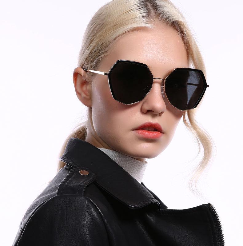 New trendypolygon fancy brand ladies eyewear luxury oversized polarized sunglassesNew trendy polygon fancy brand ladies eyewear luxury oversized polarized sunglasses