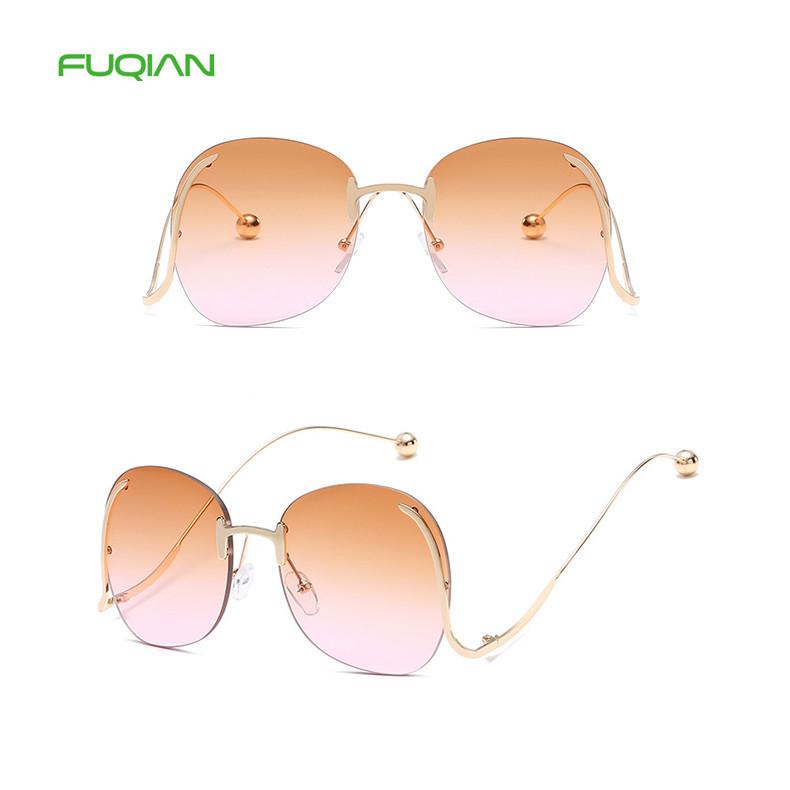Fashion OEM Small Steel Ball Big Frame Women Retro Designer Sunglasses