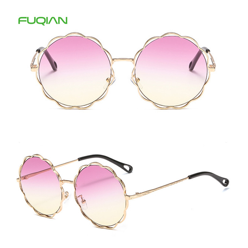 Design Your Own Age's Photochromic Round Shade Women Flower SunglassDesign Your Own Age's Photochromic Round Shade Women Flower Sunglass
