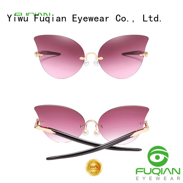 Fuqian Custom female designer sunglasses factory for racing