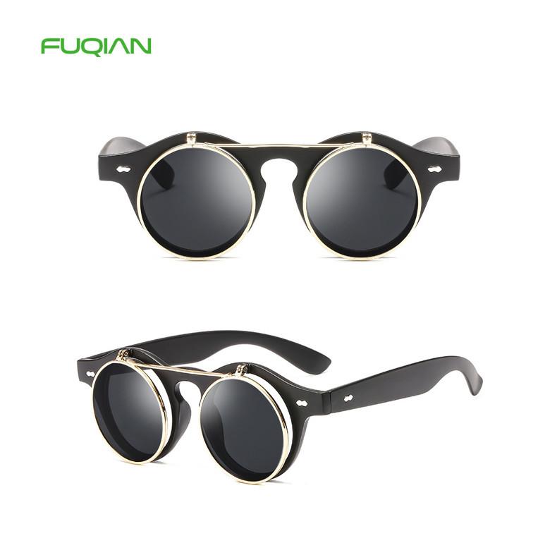 Hollow Printing Frame Flip Lens Driving Gafas Dubery Women Men Sunglasses
