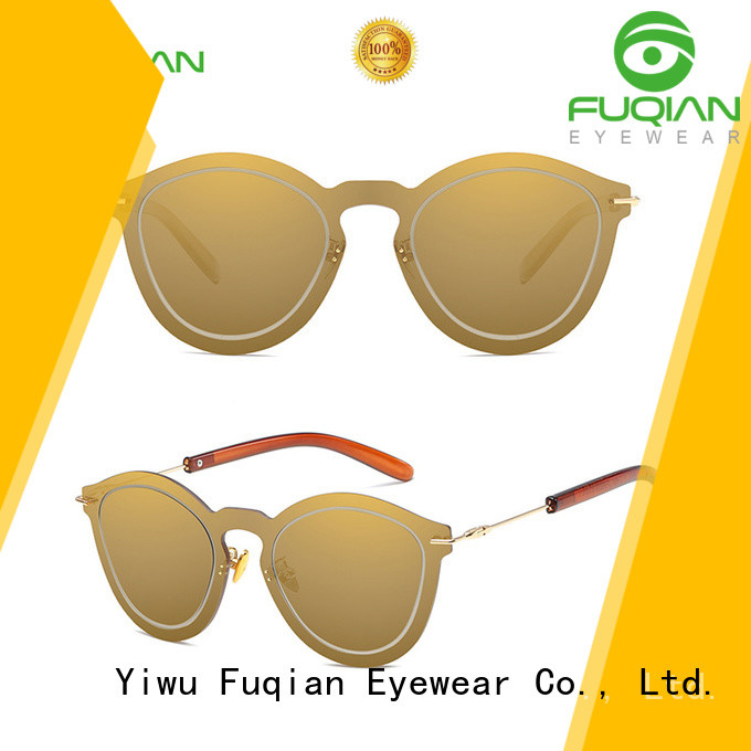 Fuqian lightweight reflective sunglasses womens Supply for lady