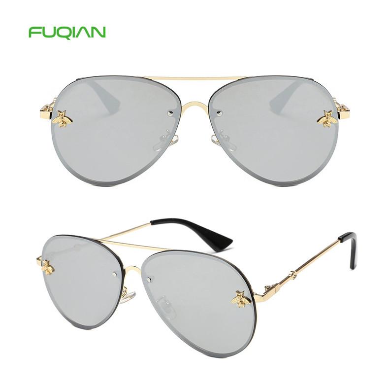 Lentes De Sol Classic Gold Bee Lens Metal Frame Glasses Women Pilot SunglassesLentes De Sol Classic Gold Bee Lens Metal Frame Glasses Women Pilot Sunglasses