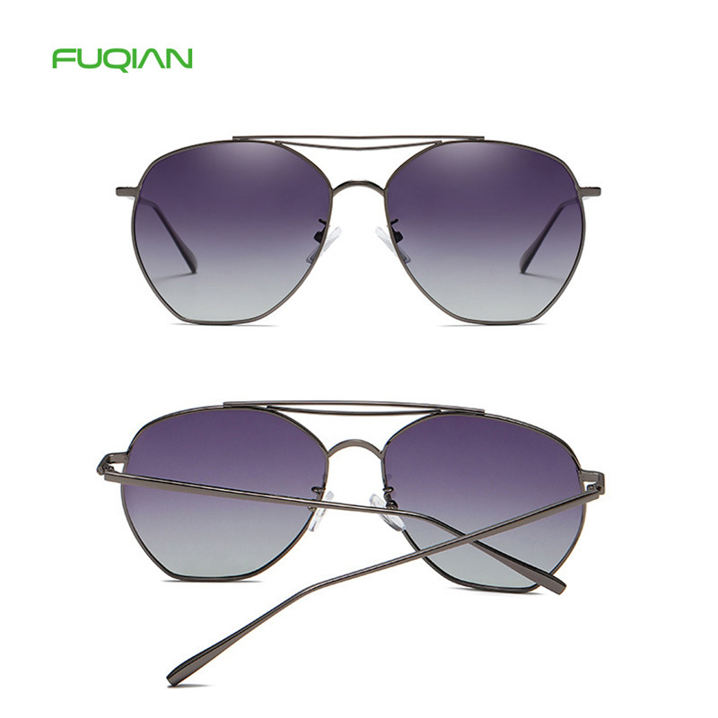 Fashion Size Polygonal TAC Metal Small Frame Polarized Women Eyewear