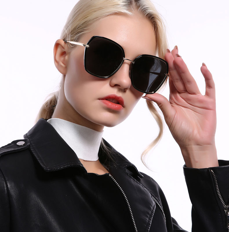 2019 New arrival hot sale women polygon sunglasses fancy shipping metal frame uv400 oversized sunglasses2019 New arrival hot sale women polygon sunglasses fancy shipping metal frame uv400 oversized sunglasses