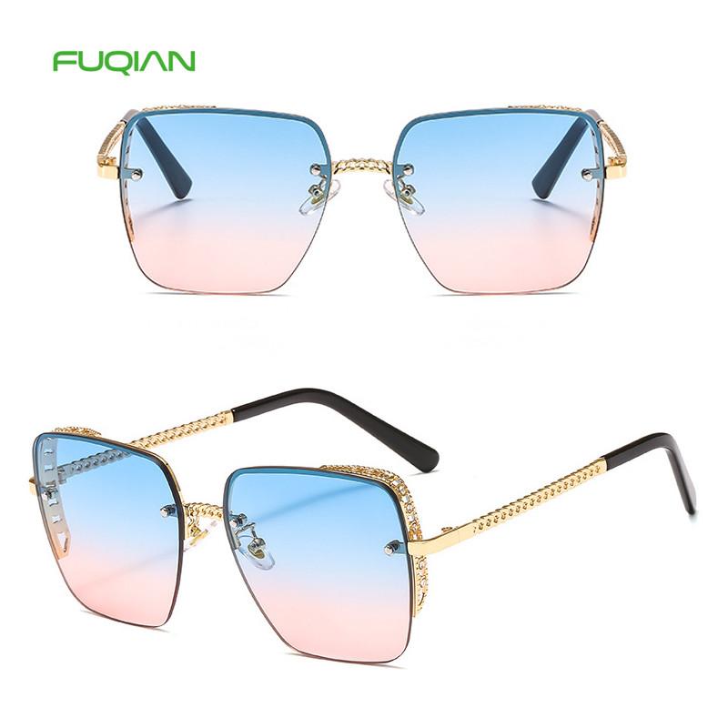 Trendy Hollow Frame Photochromic Lens Sun Glasses Square Sunglasses For WomenTrendy Hollow Frame Photochromic Lens Sun Glasses Square Sunglasses For Women