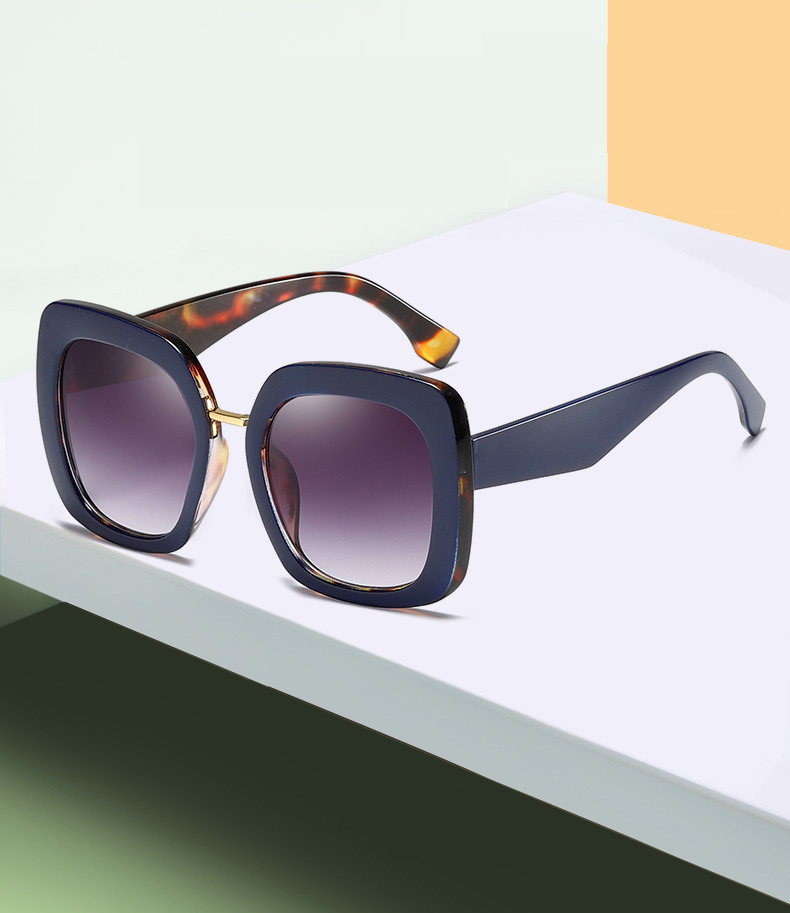 Oversized Square Big Frame 100% UV Protection Female Shades Sunglasses