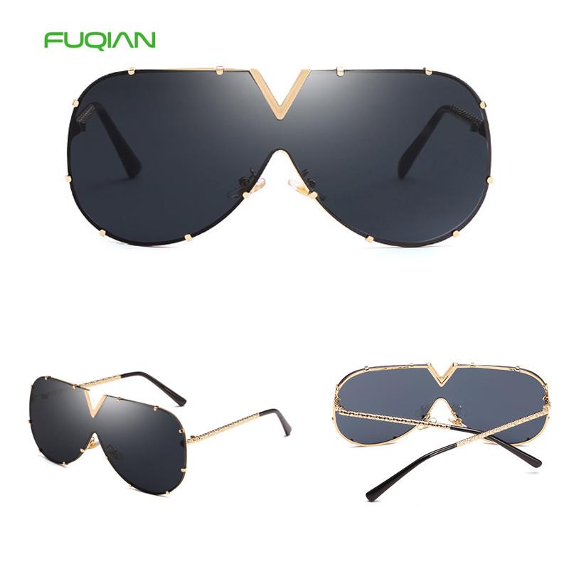 Fashion Oversized Round Big Frame 2019 Retro Women Gradient Sunglasses
