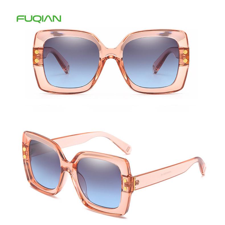 Promotional Oversized Round Plastic Frame Custom Logo Women Sunglasses