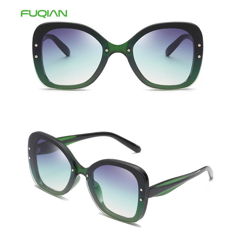 2019 Bulk Wholesale Big Round Frame Oversized Plastic Women Sunglasses